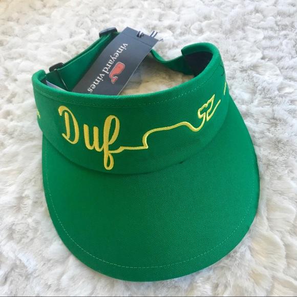 609c836f8a7 NEW Vineyard Vines Dufner Green Golf Visor Hat